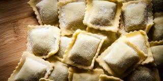 Italian home-made ravioli Stock Photo