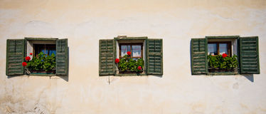 Italian home in Tirol Stock Photography