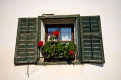 Italian home in Tirol window detail Royalty Free Stock Images