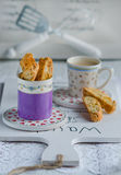 Italian homemade biscotti cookies Stock Images