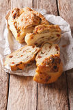 Italian homemade bread filled with cheese and bacon and dried to Royalty Free Stock Photography