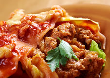 Italian homemade lasagna Stock Photography