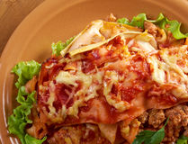 Italian homemade lasagna Royalty Free Stock Photography