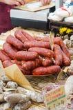 Italian hot salami stock photos
