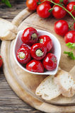 Italian hot stuffed pepper with capers and tuna Royalty Free Stock Photo
