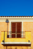 Italian House. Modern colourful italian house style in Sardinia Stock Photo