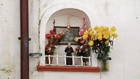 Italian house altar. House altar at Cefalu, Sicily, Italy Stock Photos