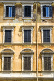 Italian house ancient facade Royalty Free Stock Photo