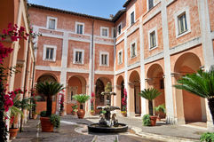 Italian house and courtyard Stock Image