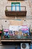 Italian House with Laundry Royalty Free Stock Images