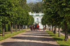 The Italian house. In the Park Kuskovo, Moscow royalty free stock photo