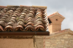 Italian house roof - Detail Stock Image