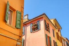Italian houses bologna via del pratello emilia romagna italy Stock Photos