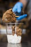 Italian ice cream artisanal preparation Royalty Free Stock Images