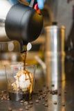 Italian ice cream artisanal preparation Royalty Free Stock Image