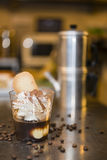 Italian ice cream artisanal preparation Royalty Free Stock Photo