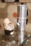 Italian ice cream artisanal preparation Stock Image