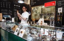 Italian ice cream maker Stock Photography