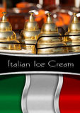 Italian Ice Cream Menu Royalty Free Stock Photos