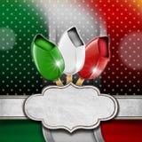 Italian Ice Cream Menu Stock Images