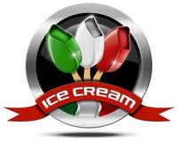 Italian Ice Cream - Metal Icon Stock Photography