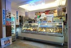 Italian ice cream shop. At Piazza Navona in Rome Royalty Free Stock Photos