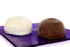 Italian Ice Cream - Truffles. Food Series - Ice Cream - Black and white truffles Stock Image