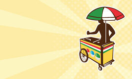 Italian ice push cart vending vendor Royalty Free Stock Photos