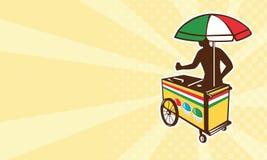 Italian ice push cart vending vendor Royalty Free Stock Photos