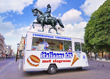 Italian icecream parlor in mobile stall, The Hague, Netherlands Royalty Free Stock Photos