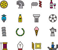 Italian icons Royalty Free Stock Images
