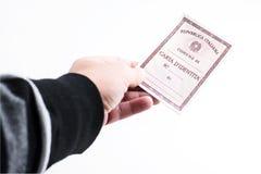 Italian Identity card Stock Images