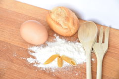 Italian ingredients. For bread, pasta and flour Royalty Free Stock Photography