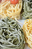 Italian Ingredients: Tagliatelle pasta Stock Photos