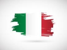 Italian ink brush flag illustration design Royalty Free Stock Photography