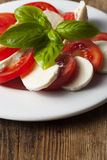 Italian insalada caprese Stock Photos