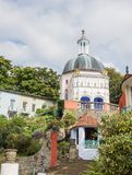Italian inspired ornate buildings in Portmeirion Stock Images