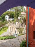 Italian inspired ornate buildings in Portmeirion Stock Image