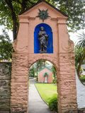 Italian inspired ornate buildings in Portmeirion Royalty Free Stock Photo