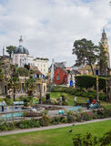Italian inspired ornate buildings in Portmeirion, Wales Royalty Free Stock Photo