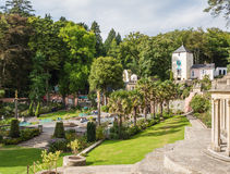 Italian inspired ornate buildings in Portmeirion, Wales Stock Photos