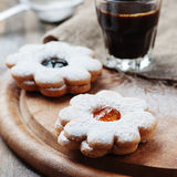 Italian italian cookie with jam Royalty Free Stock Images