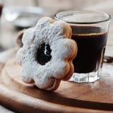 Italian italian cookie with jam Stock Photo