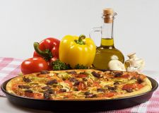 Italian kitchen and pizza Royalty Free Stock Photography