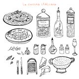 Italian kitchen set Royalty Free Stock Image