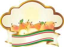 Italian label for pears Stock Photography