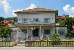 Italian lacy villa in sunny day Stock Photography