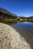 Italian lake. Lake of Servant in Mont Avic park, Val D'Aosta, Italy Stock Photos