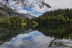 Italian lake and alps Stock Photos