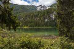 Italian lake and alps Royalty Free Stock Image